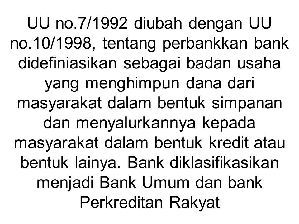 UU no. 7/1992 diubah dengan UU no