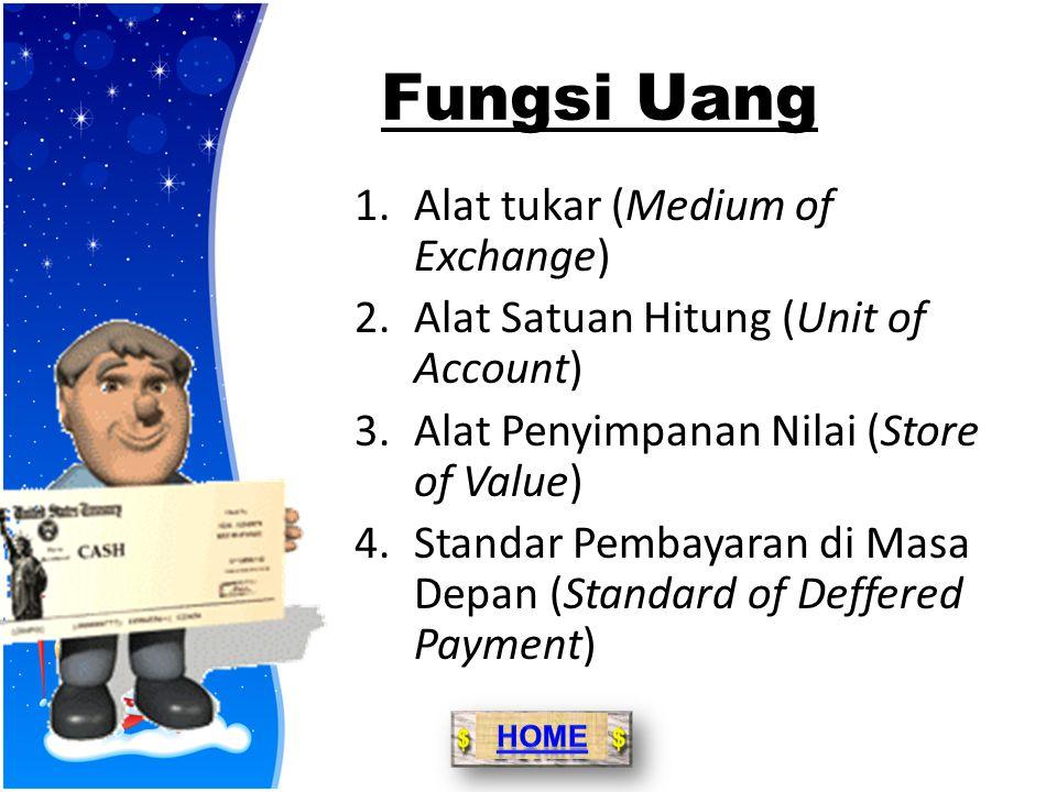Fungsi Uang Alat tukar (Medium of Exchange)