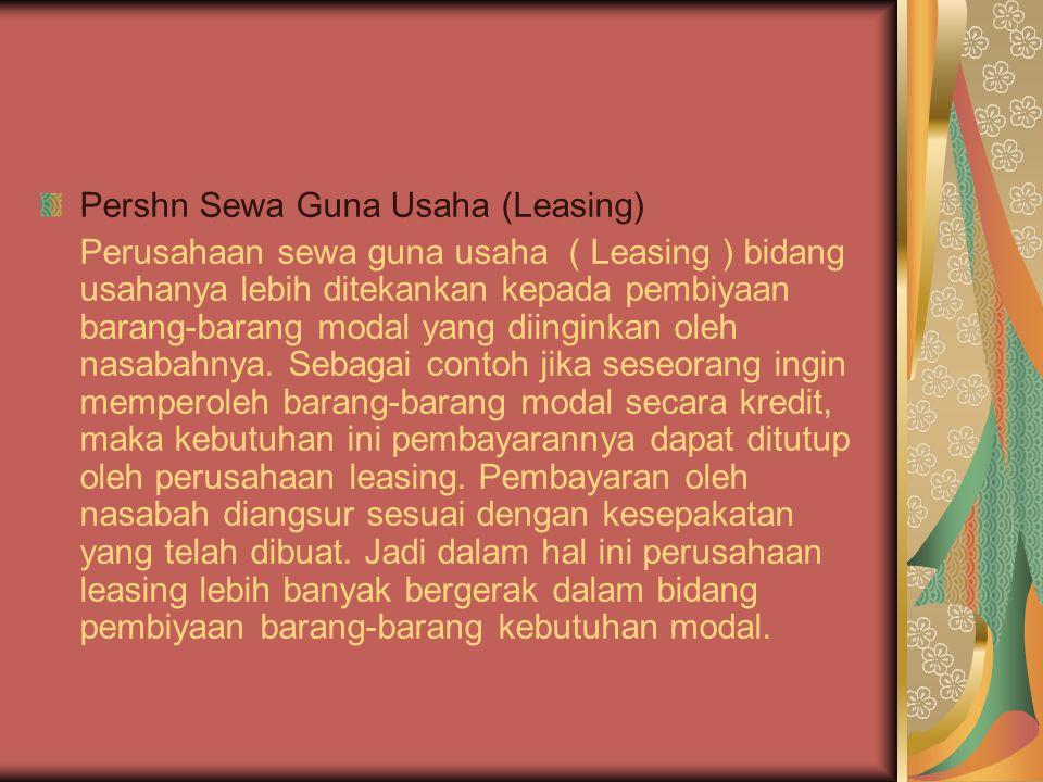 Pershn Sewa Guna Usaha (Leasing)