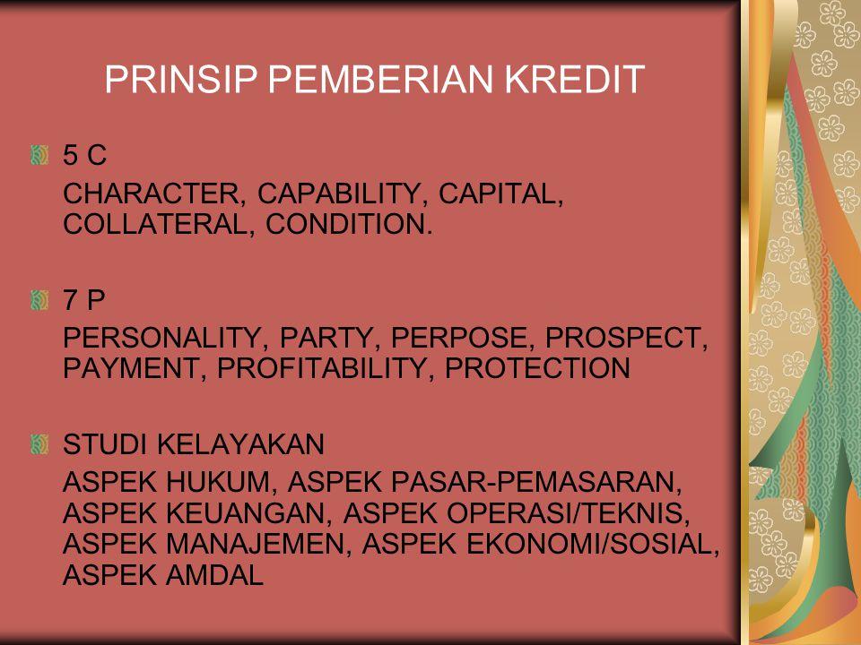 PRINSIP PEMBERIAN KREDIT