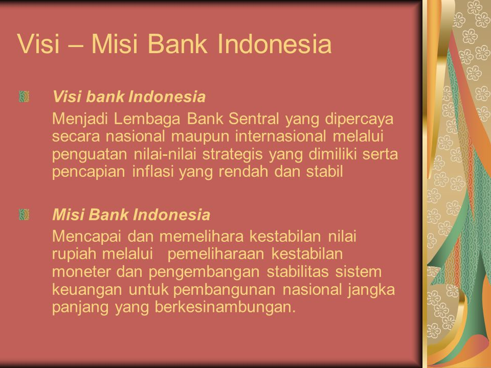 Visi – Misi Bank Indonesia