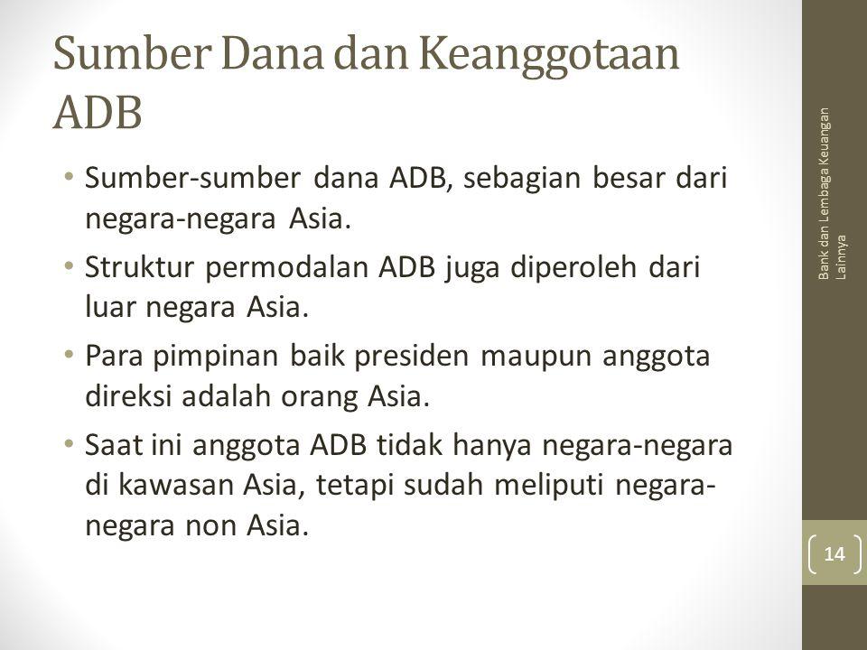 Sumber Dana dan Keanggotaan ADB