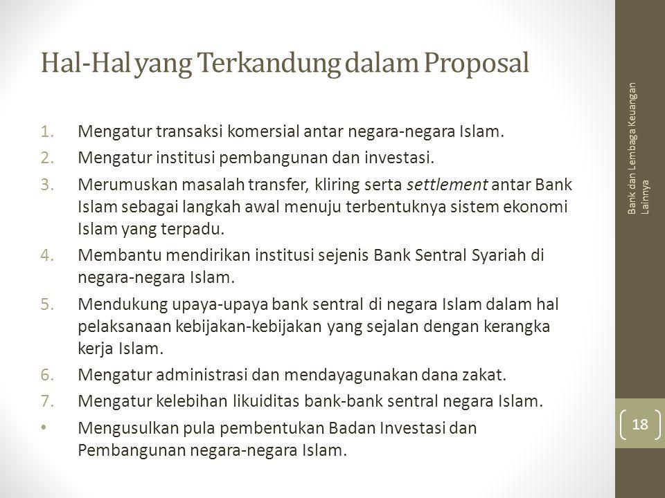 Hal-Hal yang Terkandung dalam Proposal