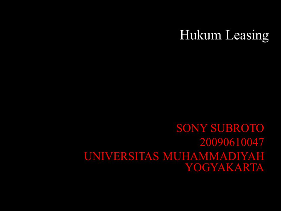 SONY SUBROTO 20090610047 UNIVERSITAS MUHAMMADIYAH YOGYAKARTA