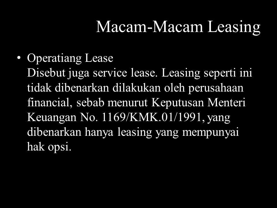 Macam-Macam Leasing