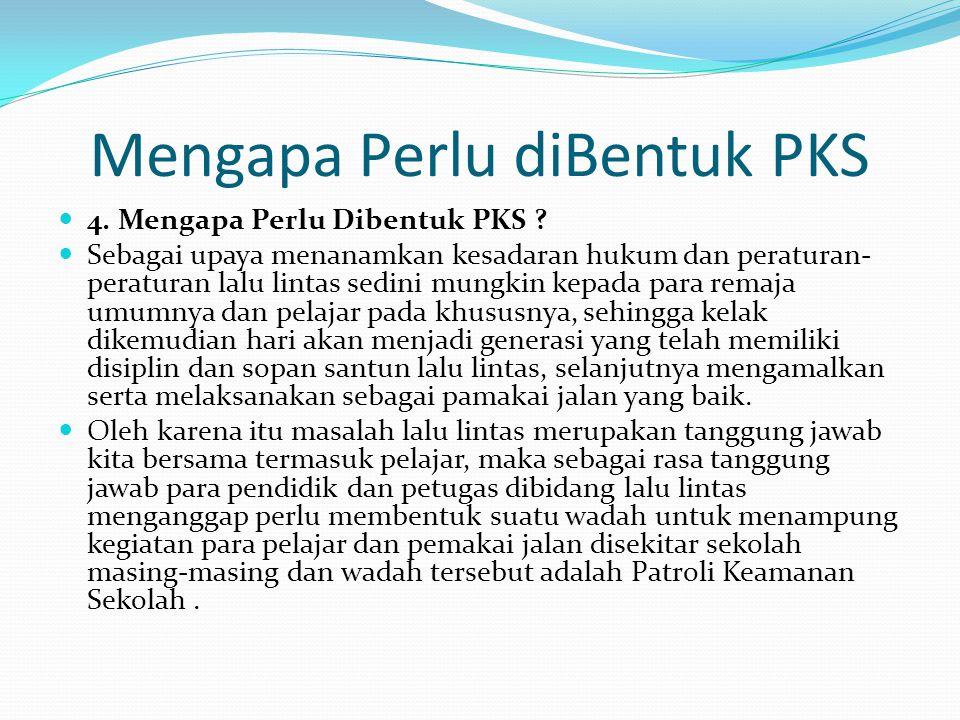 Mengapa Perlu diBentuk PKS