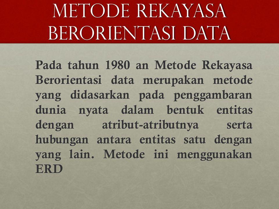 METODE REKAYASA BERORIENTASI DATA