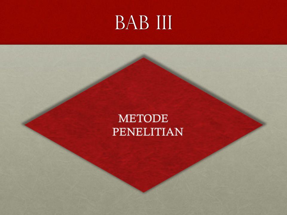 BAB III METODE PENELITIAN