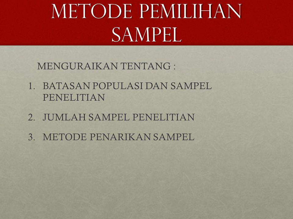 METODe pemilihan sampel