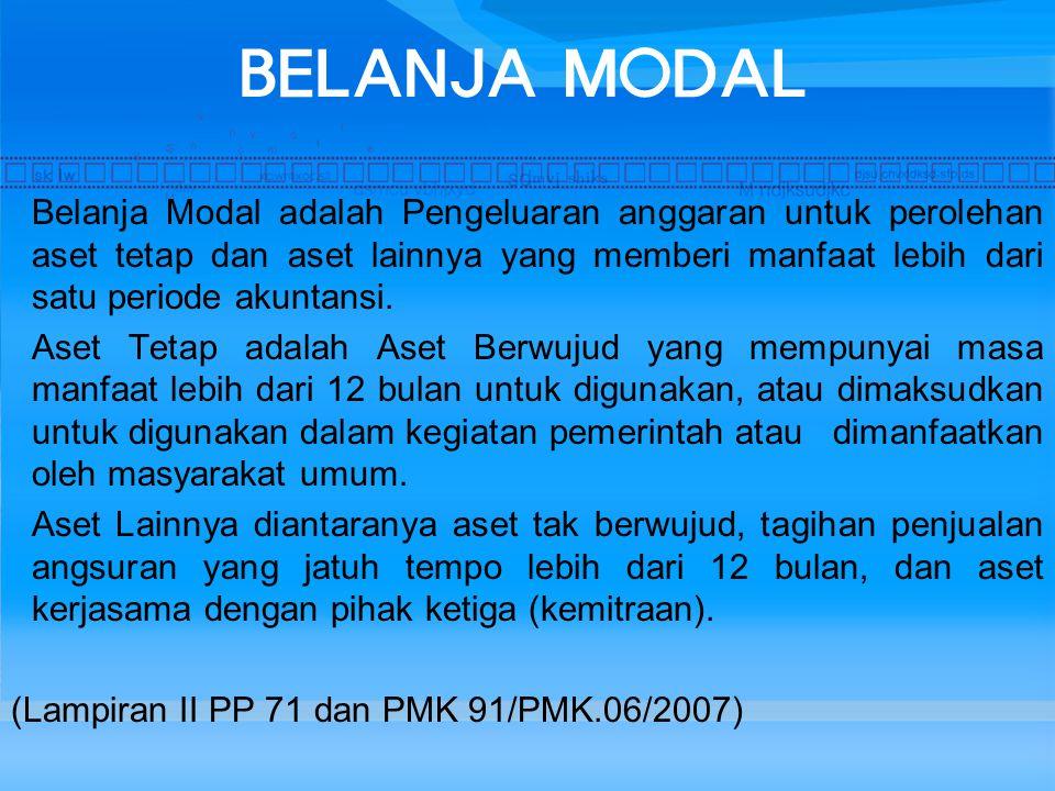 BELANJA MODAL