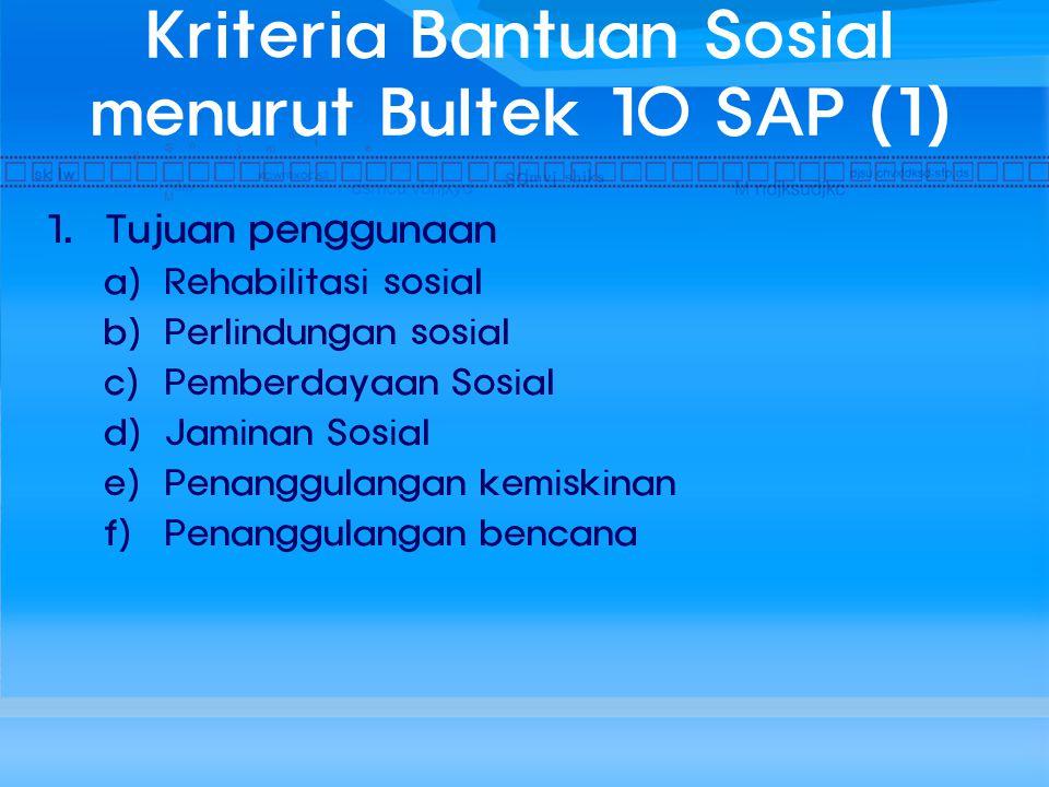 Kriteria Bantuan Sosial menurut Bultek 10 SAP (1)