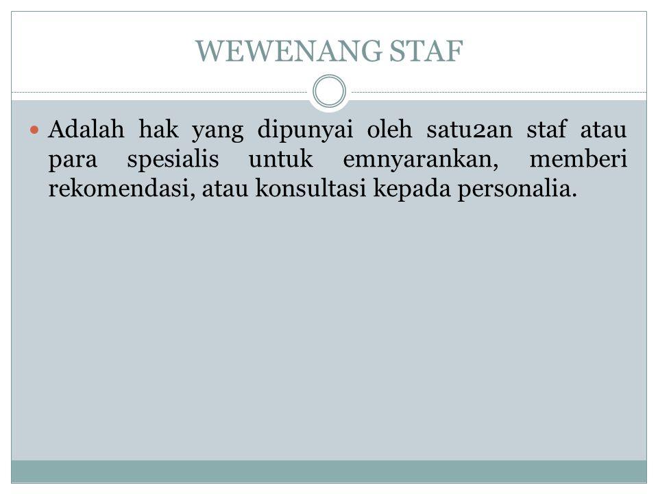 WEWENANG STAF