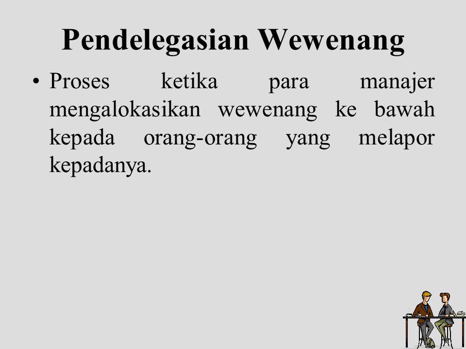 Pendelegasian Wewenang
