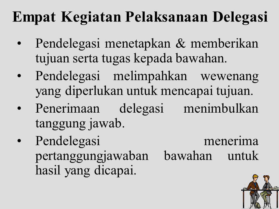Empat Kegiatan Pelaksanaan Delegasi