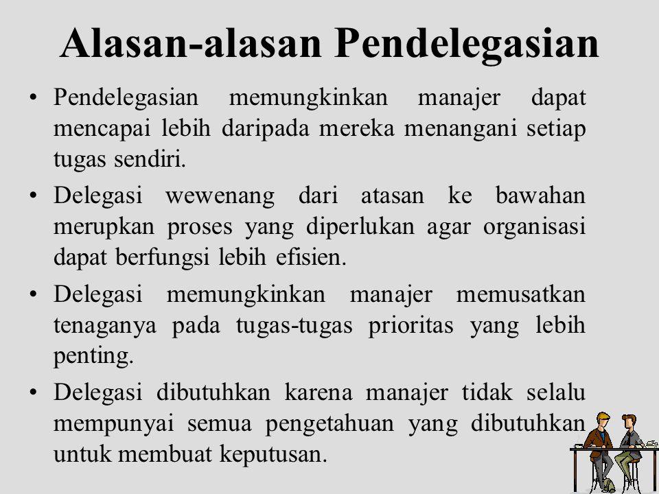 Alasan-alasan Pendelegasian