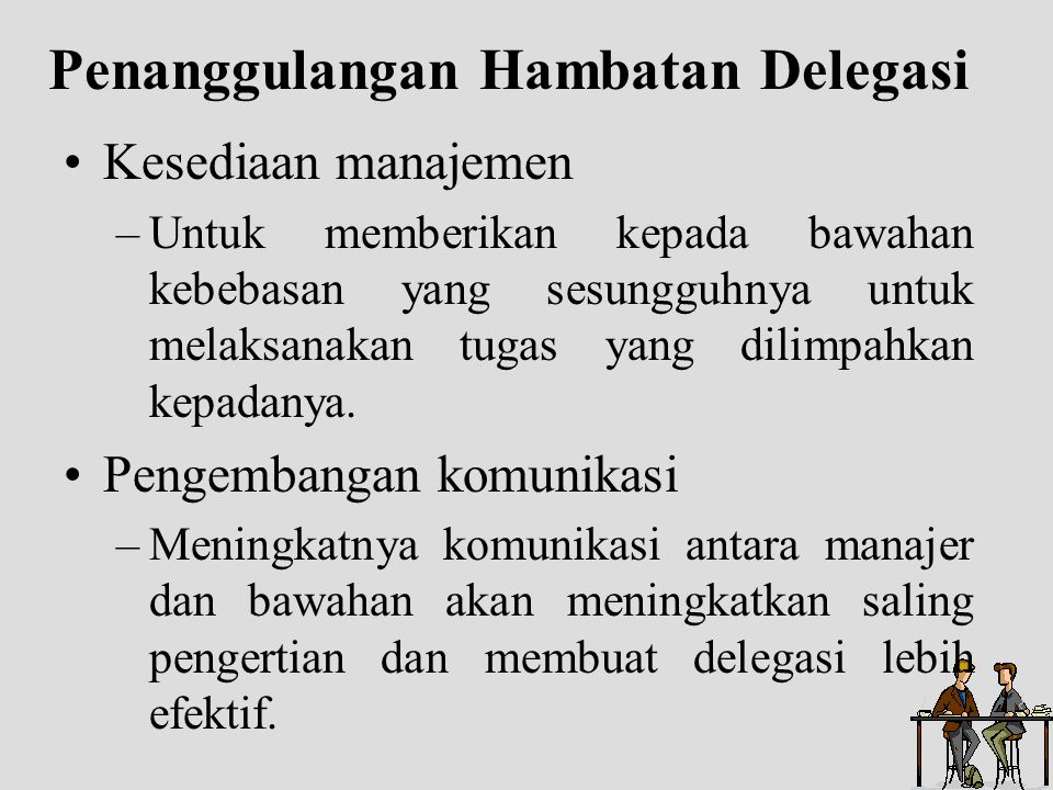 Penanggulangan Hambatan Delegasi