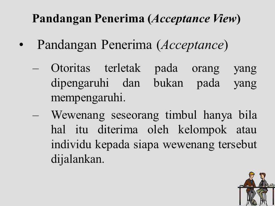 Pandangan Penerima (Acceptance View)