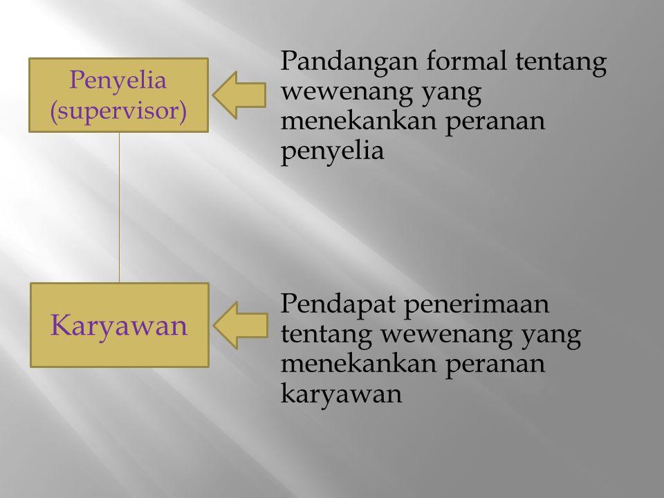 Pandangan formal tentang wewenang yang menekankan peranan penyelia