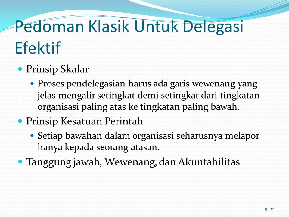Pedoman Klasik Untuk Delegasi Efektif