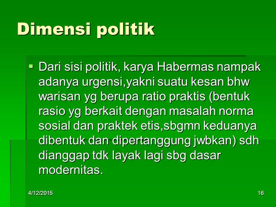 Dimensi politik