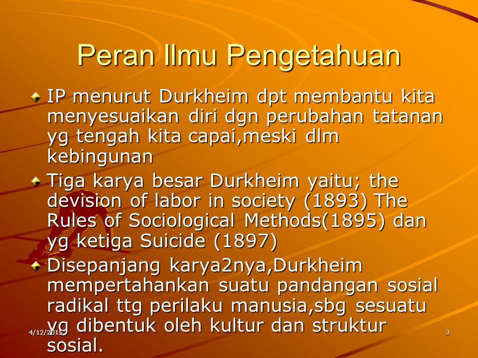 Peran Ilmu Pengetahuan