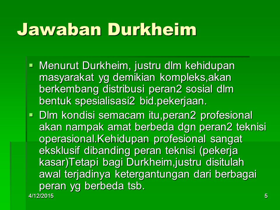 Jawaban Durkheim
