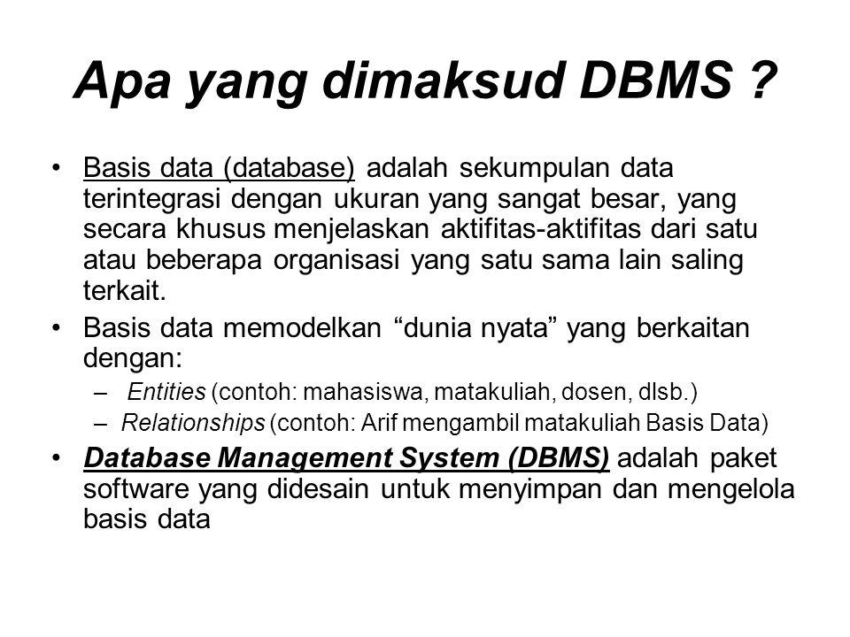 Apa yang dimaksud DBMS
