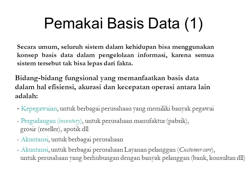 Pemakai Basis Data (1)