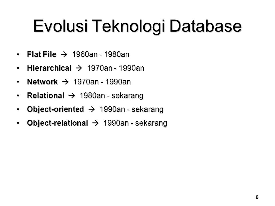 Evolusi Teknologi Database