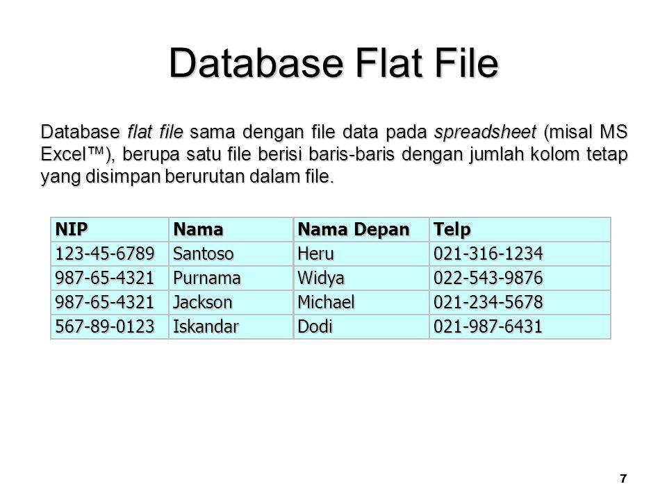 Database Flat File