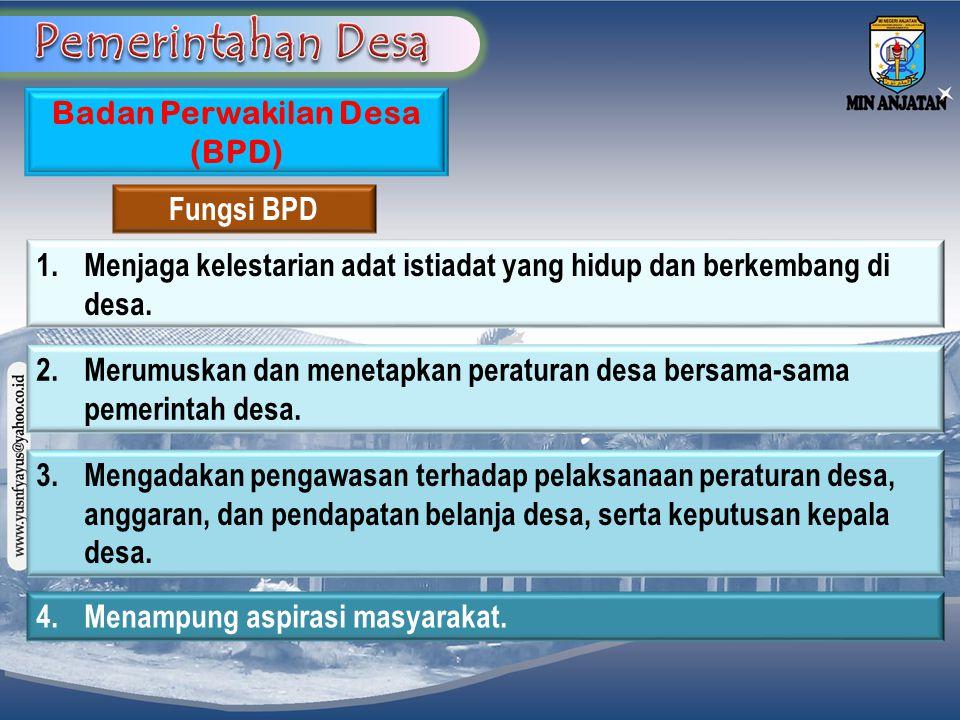 Badan Perwakilan Desa (BPD)