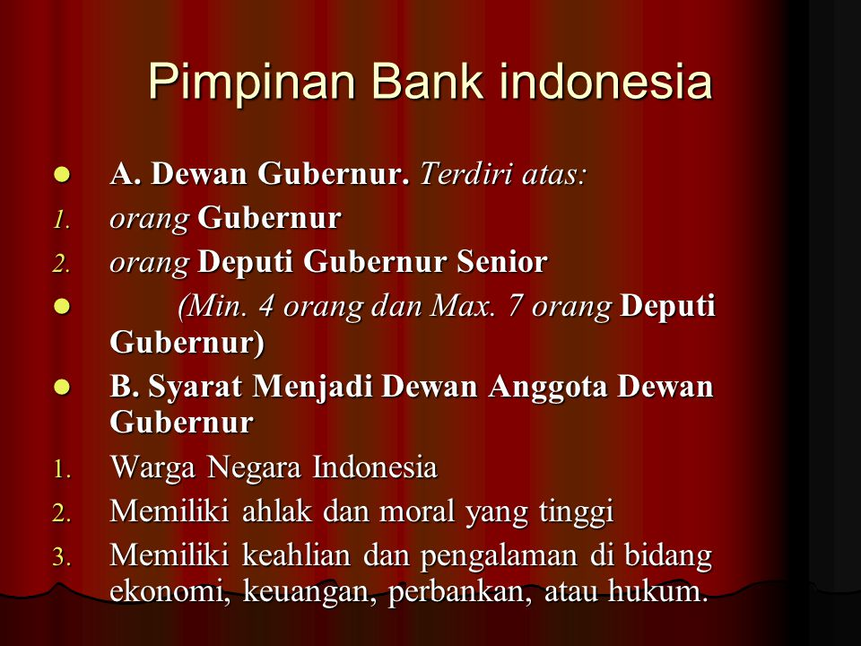 Pimpinan Bank indonesia