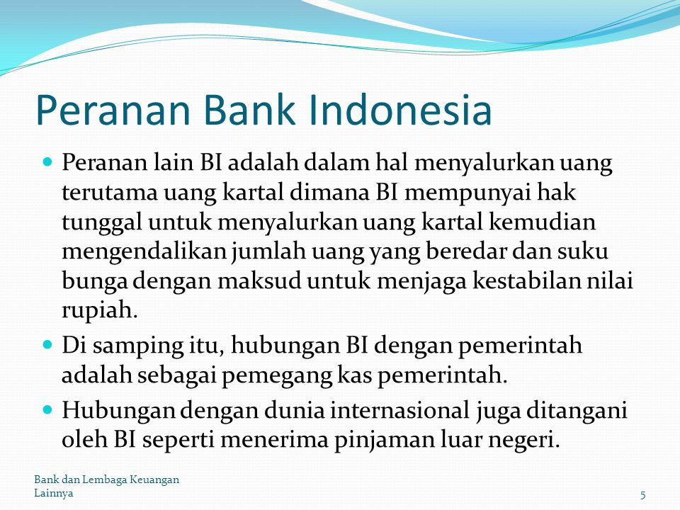Peranan Bank Indonesia