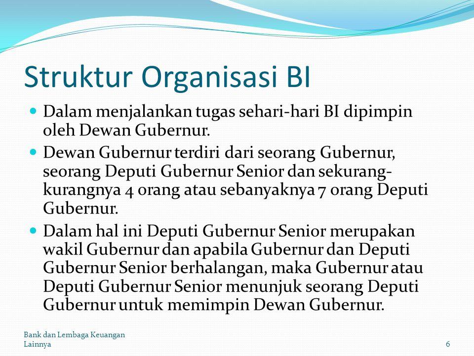 Struktur Organisasi BI