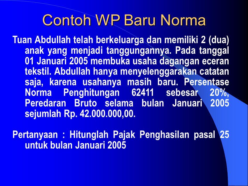 Contoh WP Baru Norma