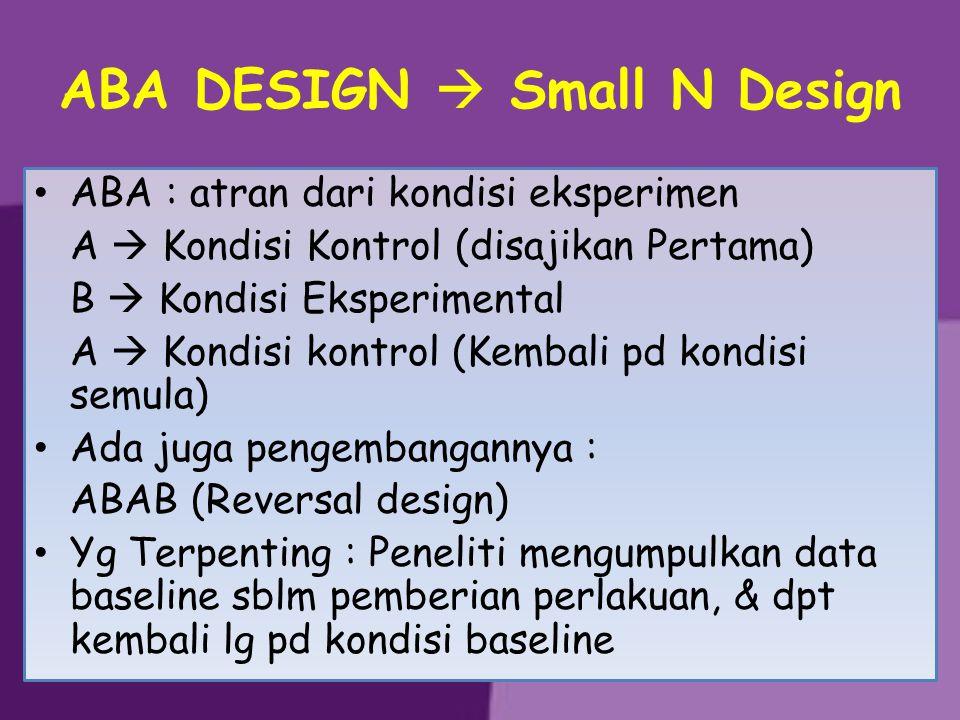 ABA DESIGN  Small N Design