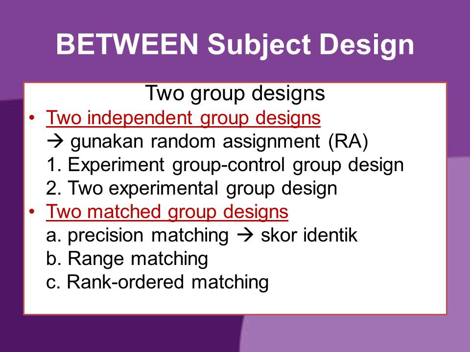 BETWEEN Subject Design