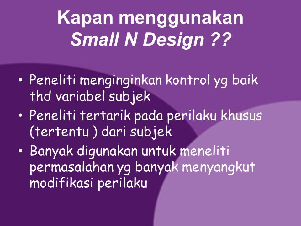 Kapan menggunakan Small N Design