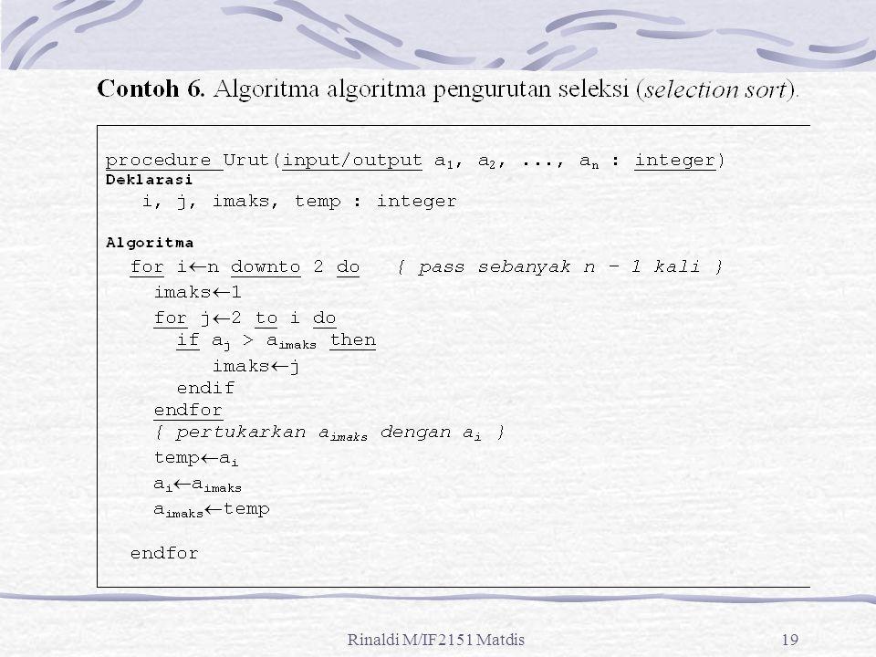 Rinaldi M/IF2151 Matdis