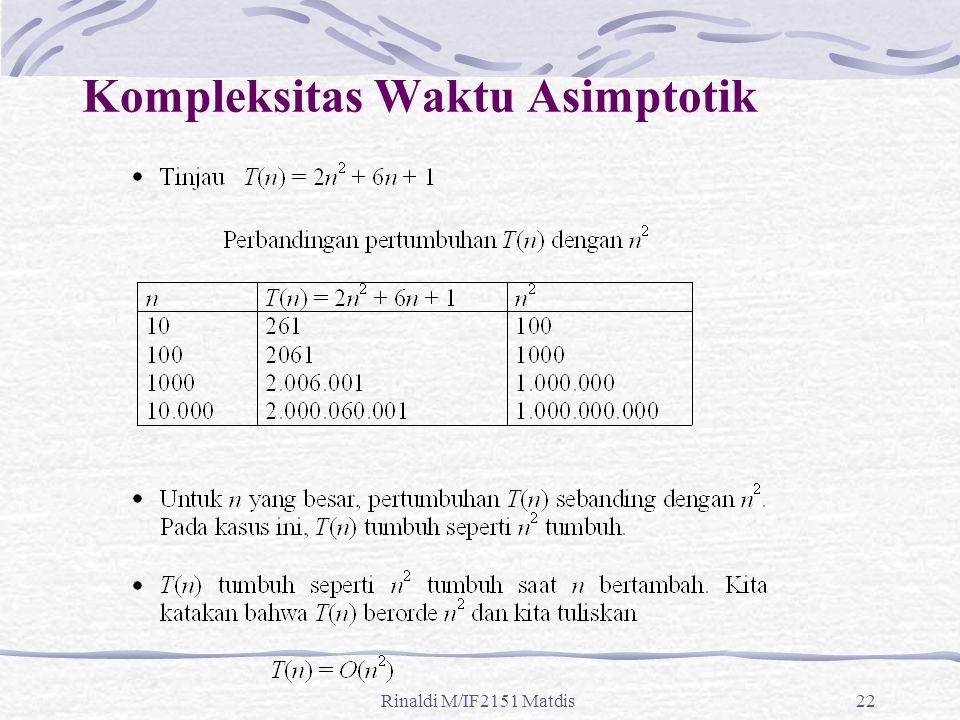 Kompleksitas Waktu Asimptotik