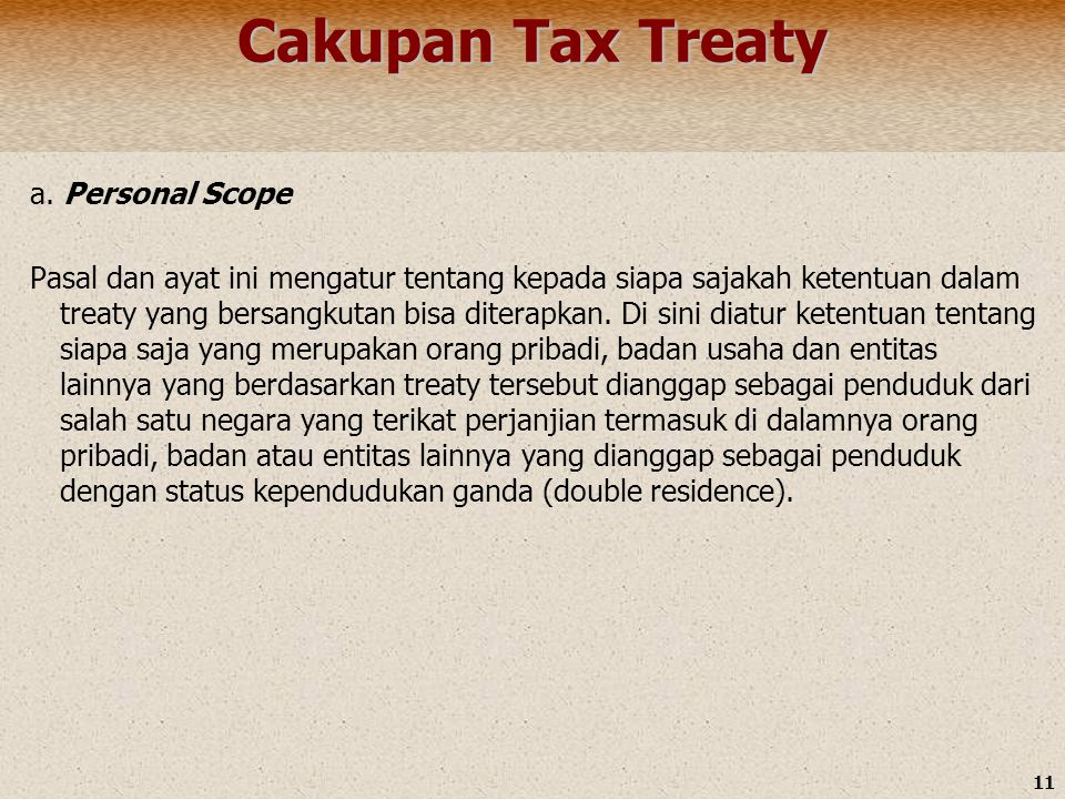 Cakupan Tax Treaty