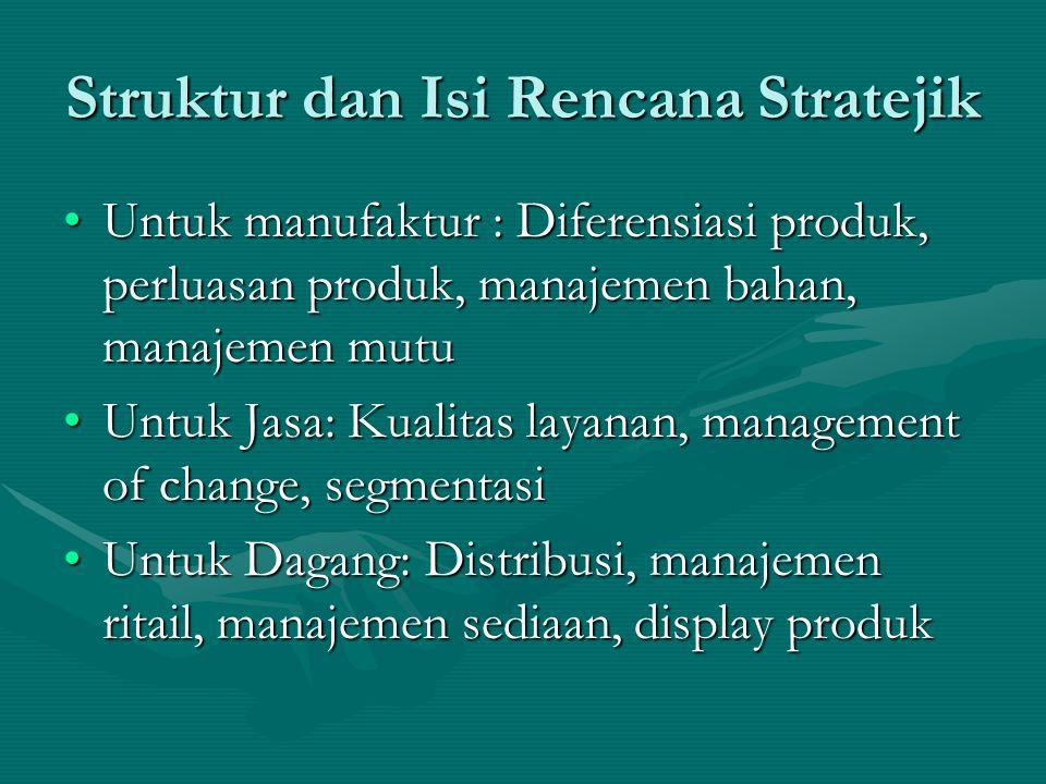 Struktur dan Isi Rencana Stratejik