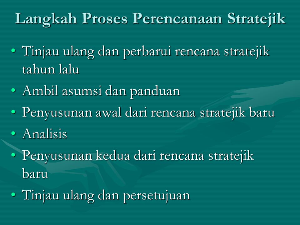 Langkah Proses Perencanaan Stratejik