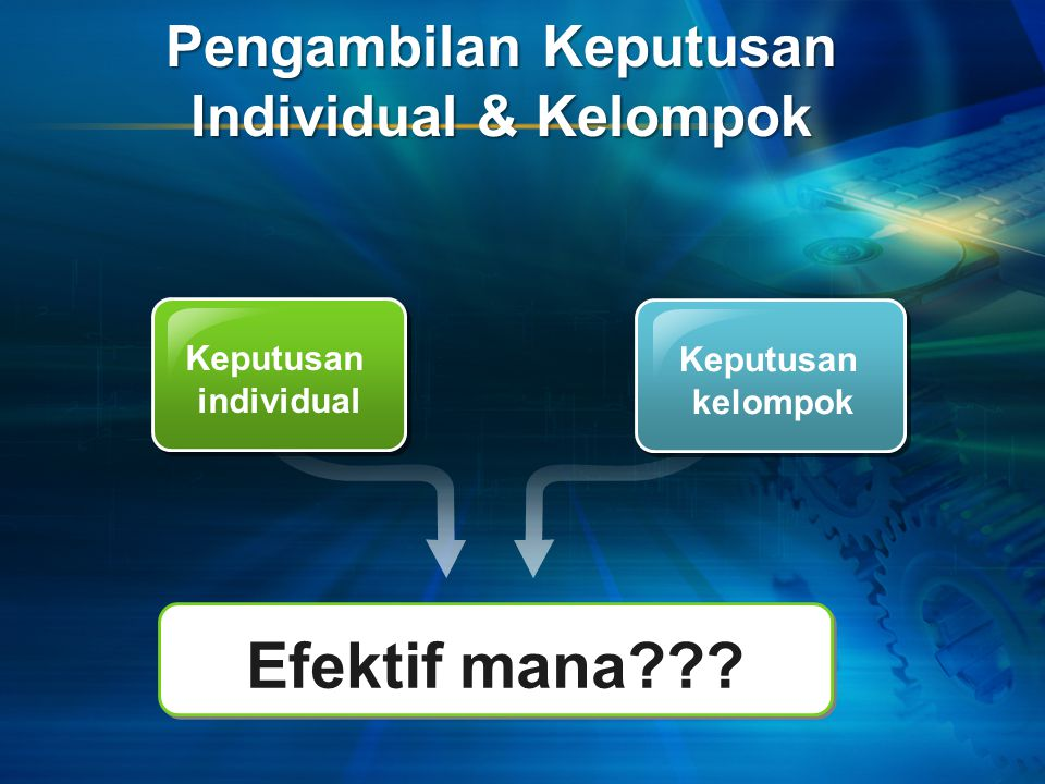 Pengambilan Keputusan Individual & Kelompok