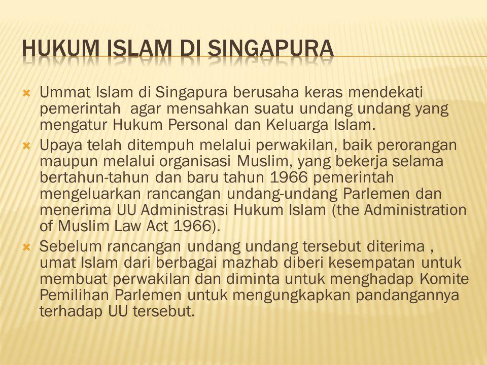 Hukum Islam di Singapura