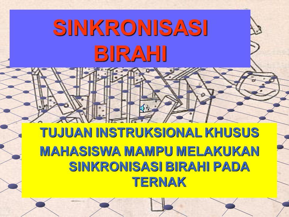 SINKRONISASI BIRAHI TUJUAN INSTRUKSIONAL KHUSUS