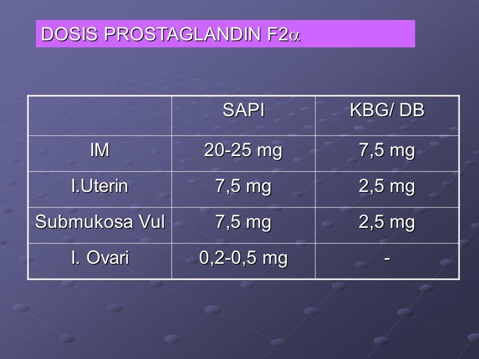 DOSIS PROSTAGLANDIN F2