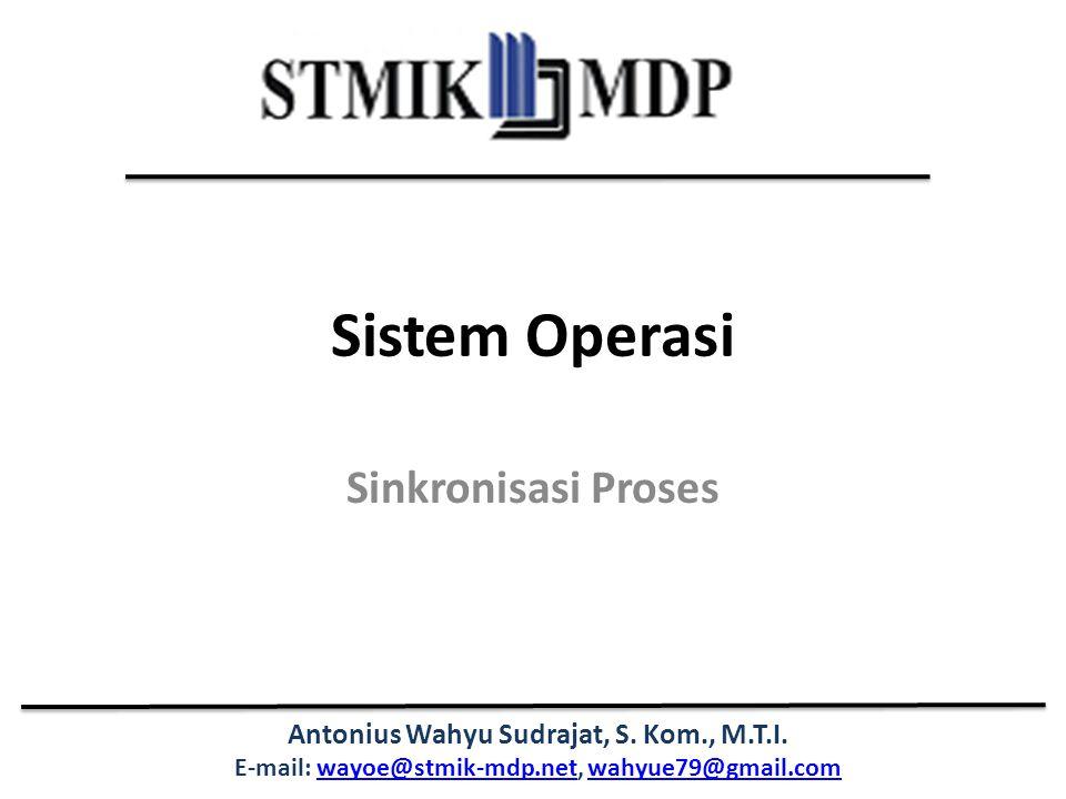 Sistem Operasi Sinkronisasi Proses