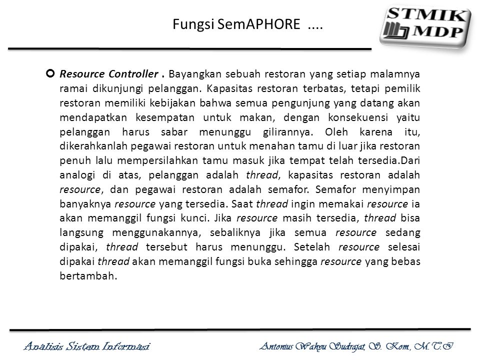 Fungsi SemAPHORE ....