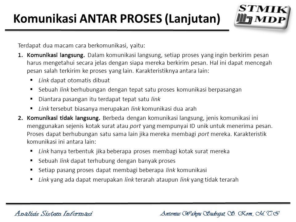 Komunikasi ANTAR PROSES (Lanjutan)